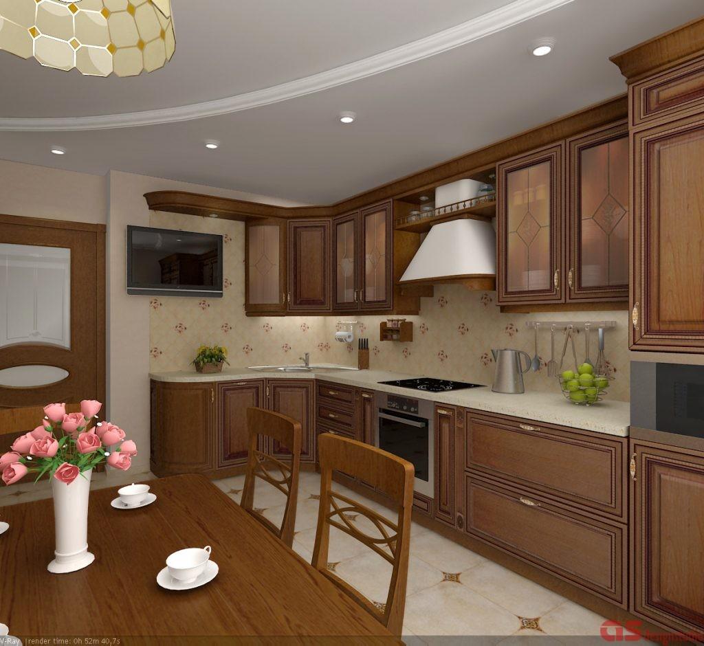 Кухня. Вид от стола итог