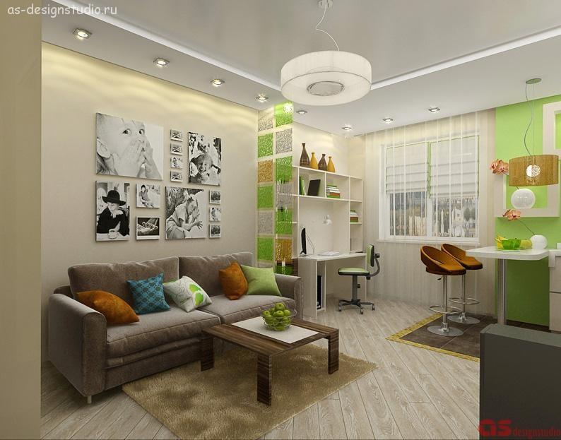 1-комнатная квартира в микрорайоне Компрессорный